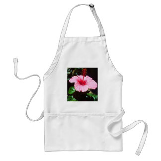 Pink Hibiscus In The Sun Adult Apron