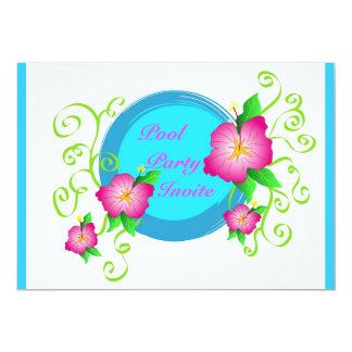 Pink hibiscus - Invitation
