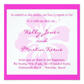 Pink Hibiscus Invite