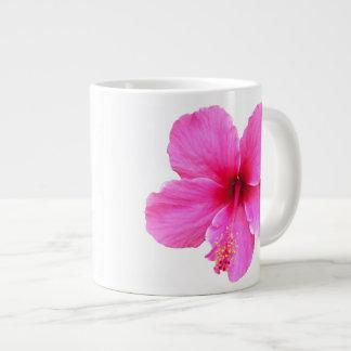 Pink HIbiscus Large Coffee Mug