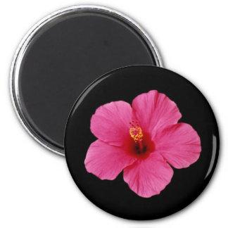 Pink Hibiscus 2 Inch Round Magnet