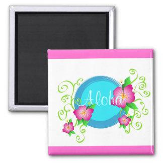 Pink hibiscus - Magnet