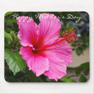 Pink Hibiscus Mother's Day Mousepad