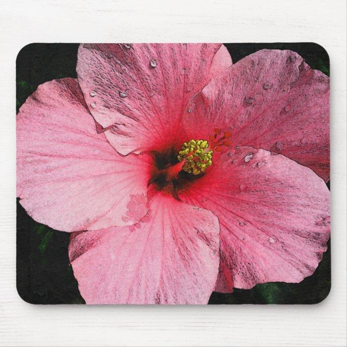 Pink Hibiscus Mousepad