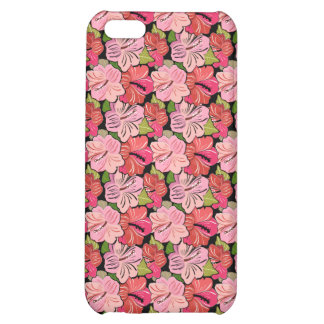 Pink Hibiscus Pattern Cover For iPhone 5C