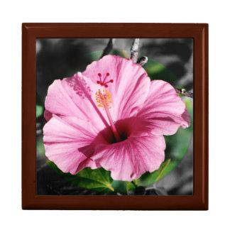 Pink Hibiscus Photo Jewelry Box