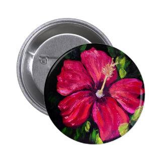 Pink Hibiscus Pinback Button