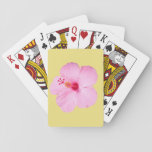 Pink Hibiscus Playing Cards