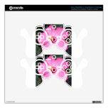 Pink hibiscus PS3 controller decal
