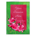 Pink Hibiscus Queen Any Occasion Template Cards