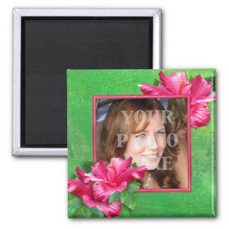 Pink Hibiscus Queen Photo Magnet