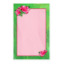 Pink Hibiscus Queen Stationery