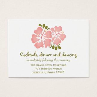 Pink Hibiscus Reception Enclosure Cards