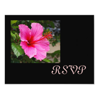 Pink Hibiscus RSVP Cards