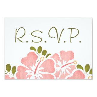 PINK HIBISCUS RSVP WEDDING RESPONSE CARDS