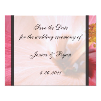 PInk Hibiscus Save the Date Card