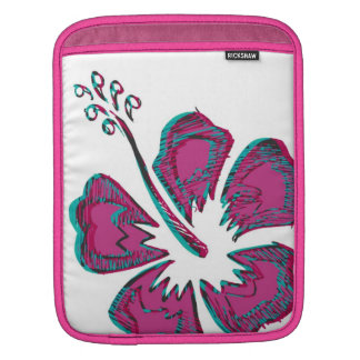 pink hibiscus sleeve for iPads