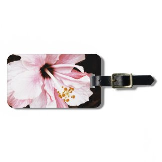 Pink Hibiscus Tags For Luggage