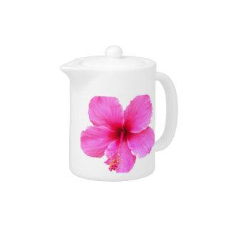 Pink Hibiscus Teapot at Zazzle