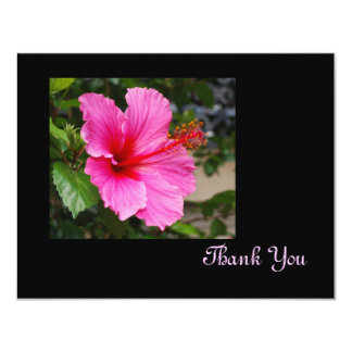 Pink Hibiscus Thank You Card