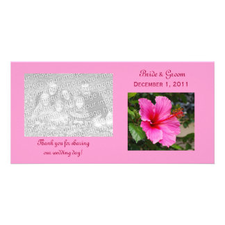 Pink Hibiscus Thank You Photo Cards