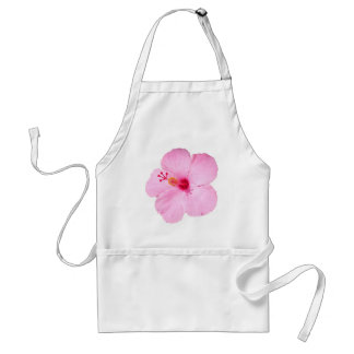Pink Hibiscus Tropical Flower Adult Apron