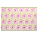 Pink Hibiscus Tropical Flower Fabric