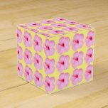 Pink Hibiscus Tropical Flower Favor Box