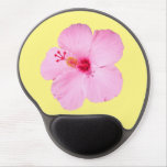 Pink Hibiscus Tropical Flower Gel Mouse Pad