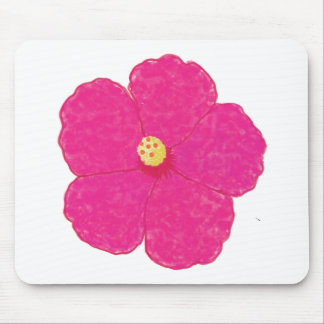 Pink Hibiscus Tropical Flower Mouse Pad