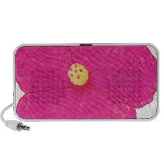 Pink Hibiscus Tropical Flower Mini Speakers