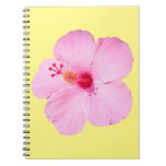Pink Hibiscus Tropical Flower Spiral Notebook