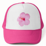 Pink Hibiscus Tropical Flower Trucker Hat