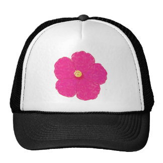 Pink Hibiscus Tropical Flower Trucker Hat