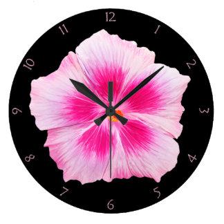 Pink Hibiscus Wallclock
