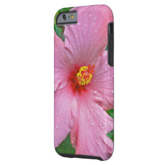"""""""PINK HIBISCUS WITH RAIN DROPS"""" TOUGH iPhone 6 CASE"""