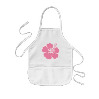Pink Hibiscus Y Apron apron