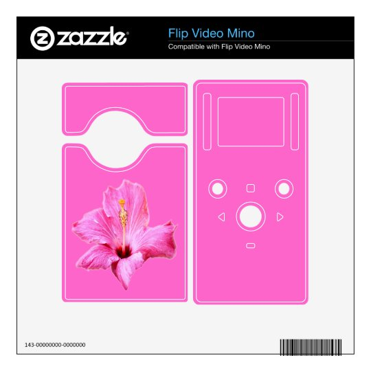 Pink Hibiscus Zazzle Skin Decal For Flip Mino