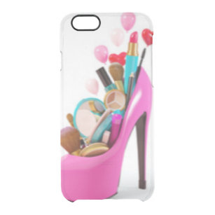 38ee08a93c7d Pink High Heel & Cosemetic Clear iPhone 6/6S Case