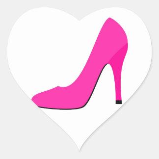 Pink High Heel Heart Sticker
