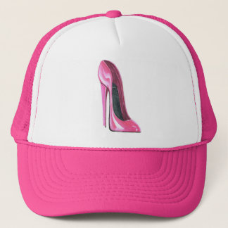 Pink High Heel Shoe Art Cap