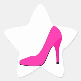 Pink High Heel Star Sticker