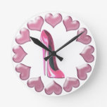 Pink High Heel Stiletto Shoe and Hearts Art Gifts Wallclocks