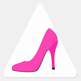 Pink High Heel Triangle Sticker