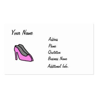 Pink High Heels Business Card