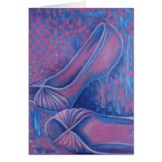 Pink High Heels Card