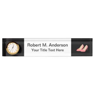 Pink High Heels - Elegant 1950s Girly Pumps Name Plate