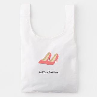 Pink High Heels - Elegant 1950s Girly Pumps Reusable Bag