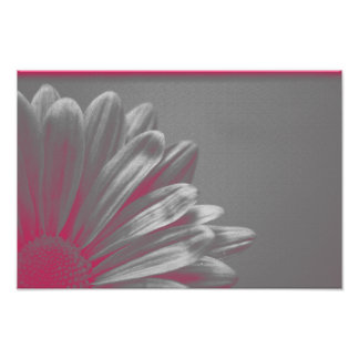 Pink Highlighted Flower Poster