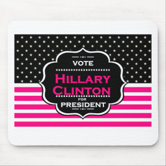 pink hillary clinton mouse pad